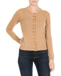 Jucca - Camel Colored Knitted Cardigan - Lyst