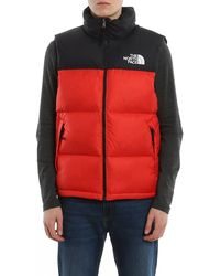 The North Face Two-tone Padded Vest - Red