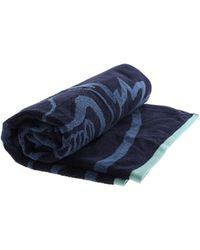 KENZO Tiger Print Beach Towel - Blue