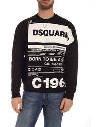 DSquared² Black Cool Fit Logo Graphic Sweatshirt