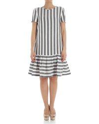 Max Mara Studio - Striped Dress - Lyst