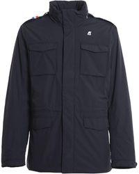 K-Way Manfield Ripstop Marmotta Jacket - Blue