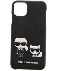 Karl Lagerfeld Karl And Choupette Iphone11 Pro Max Cover - Black