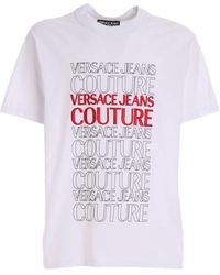 Versace Jeans Couture - Lettering Logo T-shirt - Lyst