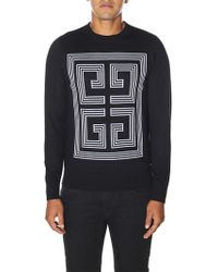 """Givenchy - """"4g"""" Wool Pullover - Lyst"""