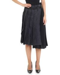 Sacai - Wool Houndstooth Wrap Skirt - Lyst