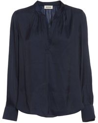 Zadig & Voltaire Tink Satin Blouse - Blue