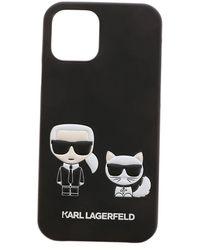 Karl Lagerfeld Cover Iphone 12/12Pro Karl E Choupette - Nero