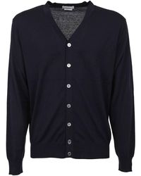 Ballantyne Silk Cotton Cardigan - Blue