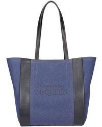 Alexander McQueen Signature Small Shopping Bag - Blue