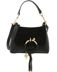 See By Chloé Joan Leather Suede Mini Satchel Bag - Black
