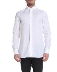 Ermenegildo Zegna Camicia in cotone bianco