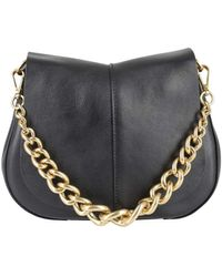 Gianni Chiarini Helena Round Chain Detailed Bag - Black