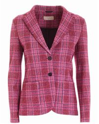 Circolo 1901 Tartan Jacket - Pink