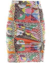Gcds Multicoloured Patchwork Skirt - Multicolor