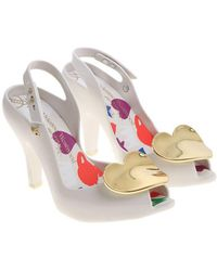 Melissa + Vivienne Westwood Anglomania White Lady Dragon Shoes