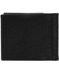 Orciani Grained Leather Bifold Wallet - Black