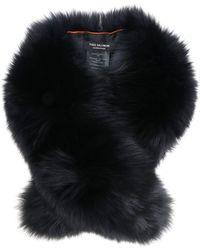 Yves Salomon Black Fur Neck Warmer