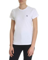 Polo Ralph Lauren White T-shirt With Contrasting Logo