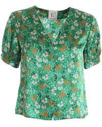 L'Autre Chose Floral Print Blouse - Green