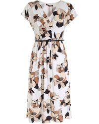 Max Mara Studio Printed Cordoba Dress - White