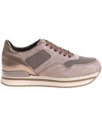 "Hogan - Dove Grey Color ""h222"" Sneakers - Lyst"