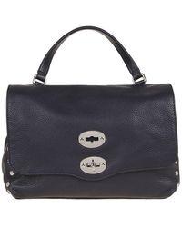 Zanellato Postina S Daily Leather Bag - Blue