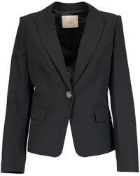 Twin Set Tech Fabric Blazer - Black