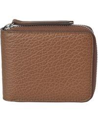 Maison Margiela - Small Zip Around Wallet - Lyst