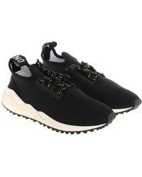 Moschino - Black Neoprene Sneakers - Lyst
