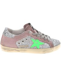 501e69e6db4 Golden Goose Deluxe Brand - Superstar Sneakers In Pink And Silver Glitter -  Lyst