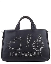 Love Moschino - Eco-leather Bag With Studs Inserts - Lyst