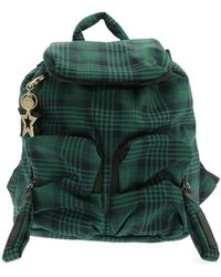 See By Chloé Joy Green Backpack With Tartan Pattern