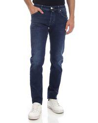 Jacob Cohen Jeans blu indaco con logo blu