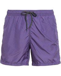 Drumohr Biscuit Patterned Swim Shorts - Red