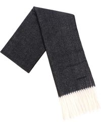 DSquared² - Black And Grey Wool Scarf - Lyst