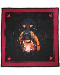 Givenchy Foulard con stampa Rottweiler - Multicolore