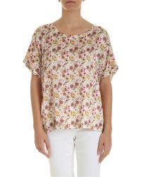 Ballantyne Floral Print Blouse - White