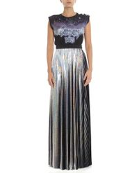 Balmain Iridescent Pleated Holographic Skirt - Metallic