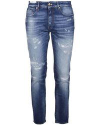PT Torino Jeans Skinny Sbiaditi Con Strappi Cool Rock Blu