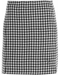 Valentino Vichy Miniskirt - White