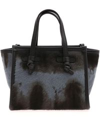 Gianni Chiarini Calf Hair Handbag - Black