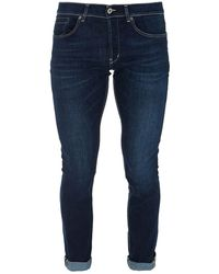 Dondup Faded Effect Denim Skinny Jeans - Blue