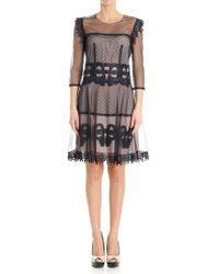 Blumarine - Embroidered Tulle Dress - Lyst
