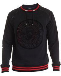 Balmain Drawstring Sweatshirt - Black