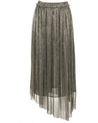 Étoile Isabel Marant Dolmenae Long Skirt - Metallic