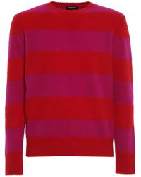 Dondup Two-tone Striped Sweater - Red