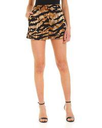 Dolce & Gabbana Animal Print Shorts - Black