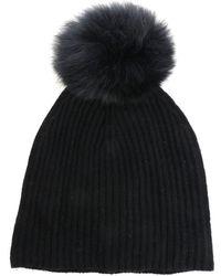 "Yves Salomon Black ""bonnet"" Hat"