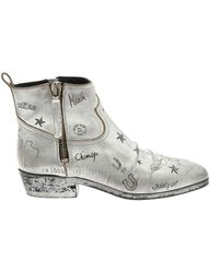 Golden Goose Deluxe Brand Viand Ankle Boots - Metallic